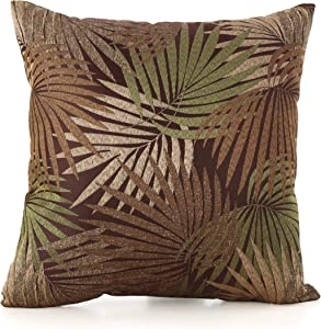 Christopher Knight Home Coronado Outdoor Square Water Resistant Pillow, Tropical Brown
