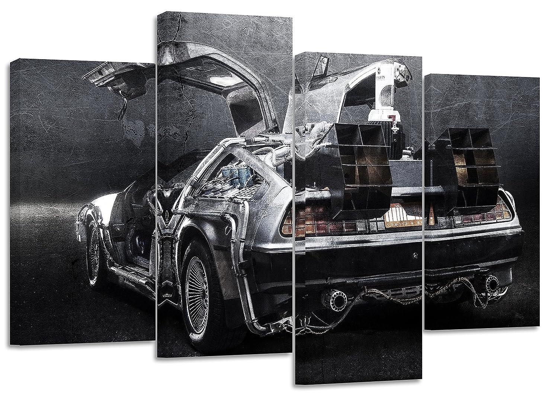 DeLorean Retour vers le futur Texture//Lot de 4/nouveaux sur toile Split Impressions 81,3/x 55,9/cm