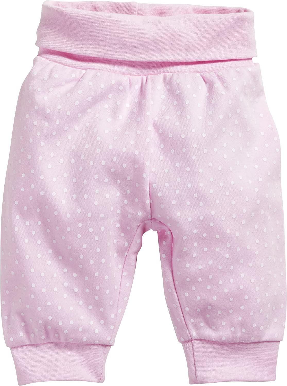 Schnizler Baby - Mädchen Jogginghose Pumphose, Babyhose Punkte mit elastischem Bauchumschlag