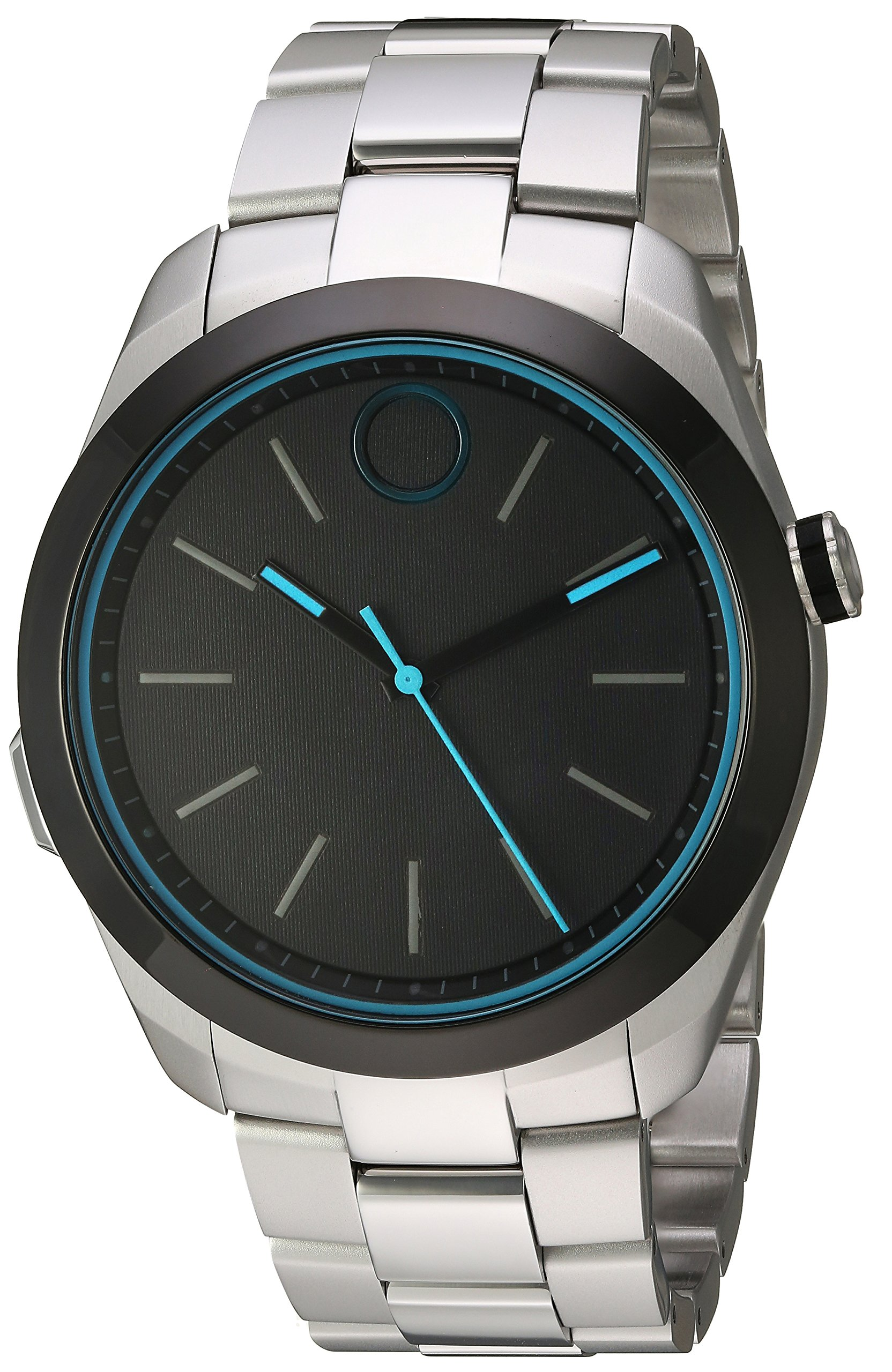 Movado Swiss Quartz Stainless-Steel-Plated Watch, Color: Silver-Toned (Model: 3660003)