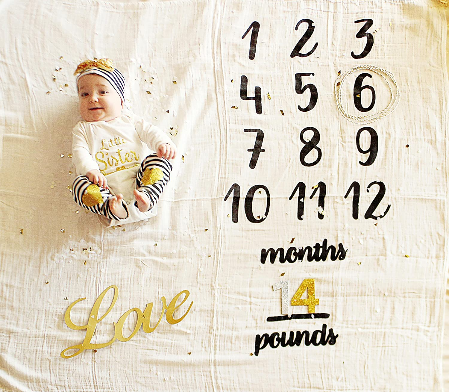 Twin Growing Newborn Baby Age Monthly Milestone Blanket, Photo Gift idea, Perfect for Boys or Girls and Baby Showers Yiwu MEE Scarf Co. Ltd. 01