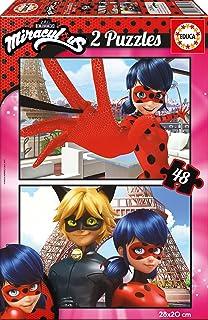 Las aventuras de Ladybug - Puzzle, 2 x 48 Piezas (Educa Borrás 17276)