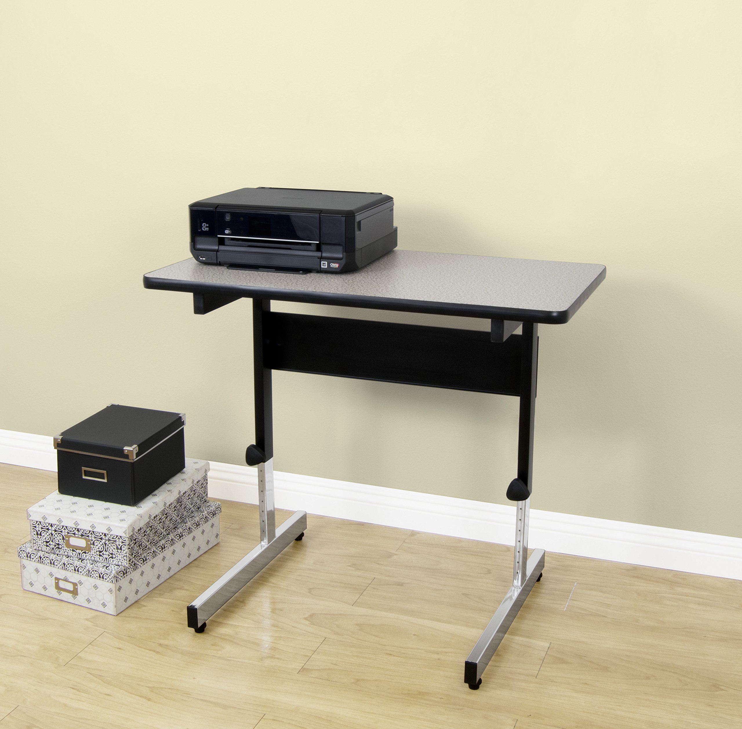 Calico Designs 410381.0 Adapta Table, 36'', Black/Spatter Gray