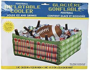 Amazing Football Fan Birthday Party Inflatable Plastic Cooler , 14u0026quot; ...
