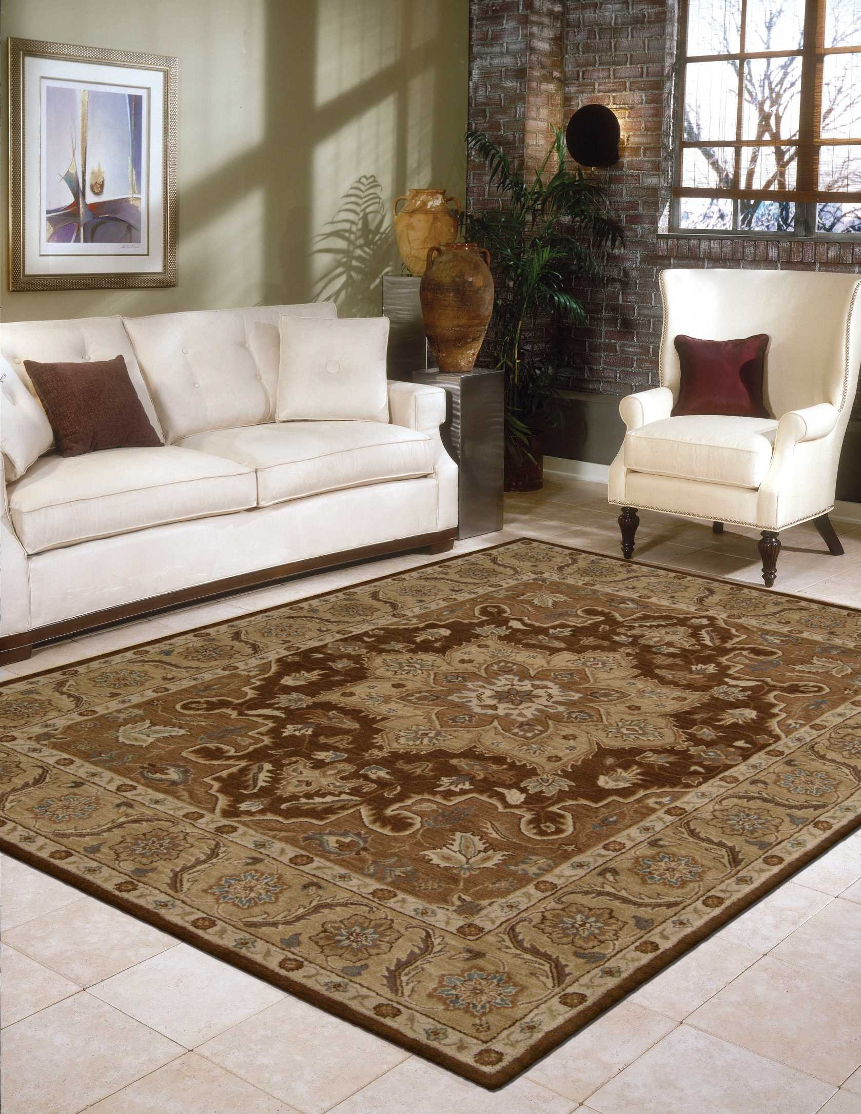 Nourison India House (IH66) Chocolate Rectangle Area Rug, 2-Feet by 3-Feet (2' x 3')