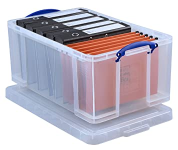 Really Useful Box 64 Litre Storage Box Clear  sc 1 st  Amazon UK & Really Useful Box 64 Litre Storage Box Clear: Amazon.co.uk: Office ...