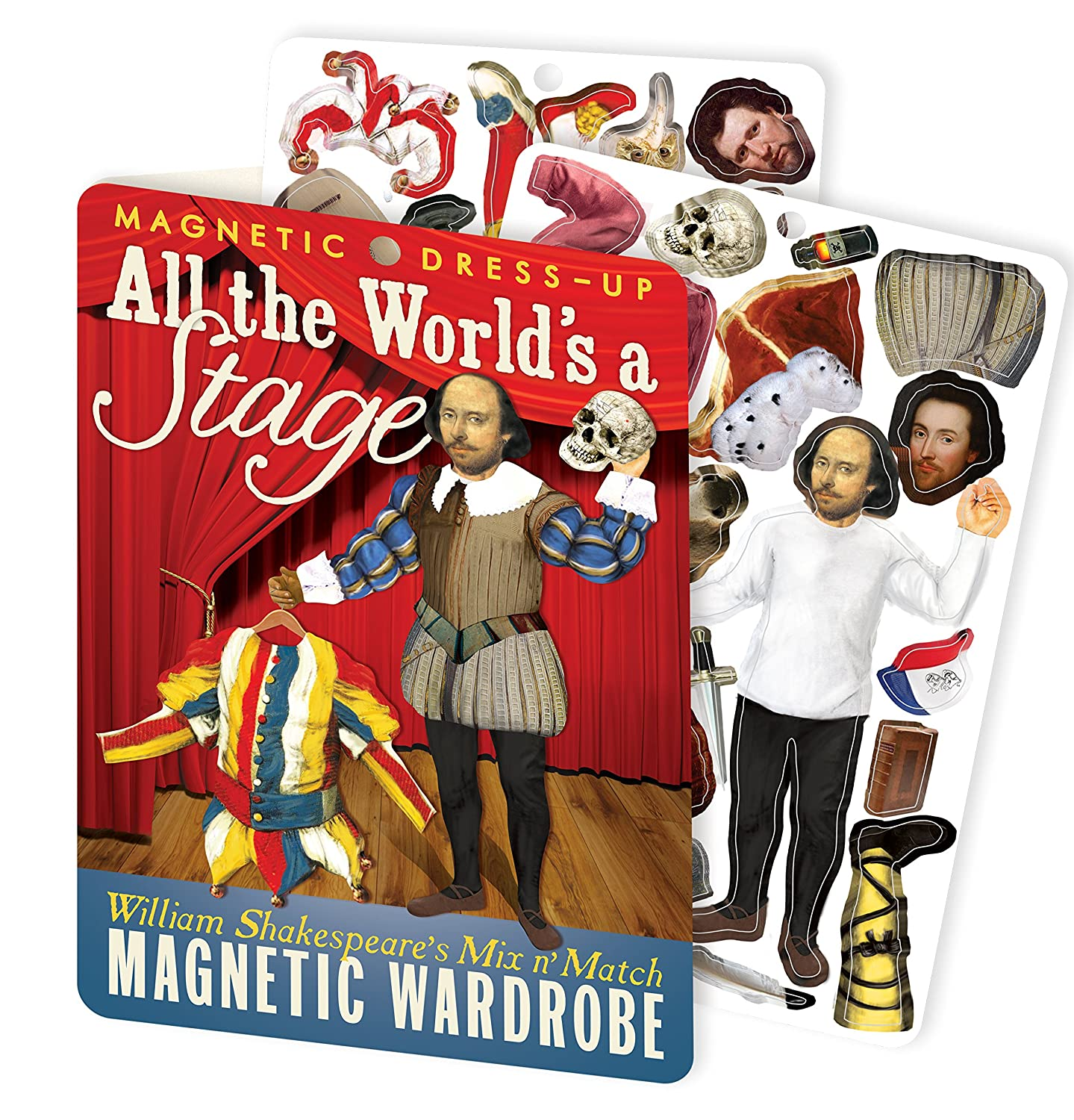 William Shakespeare Magnetic Dress Up Doll Play Set All The Worlds a Stage