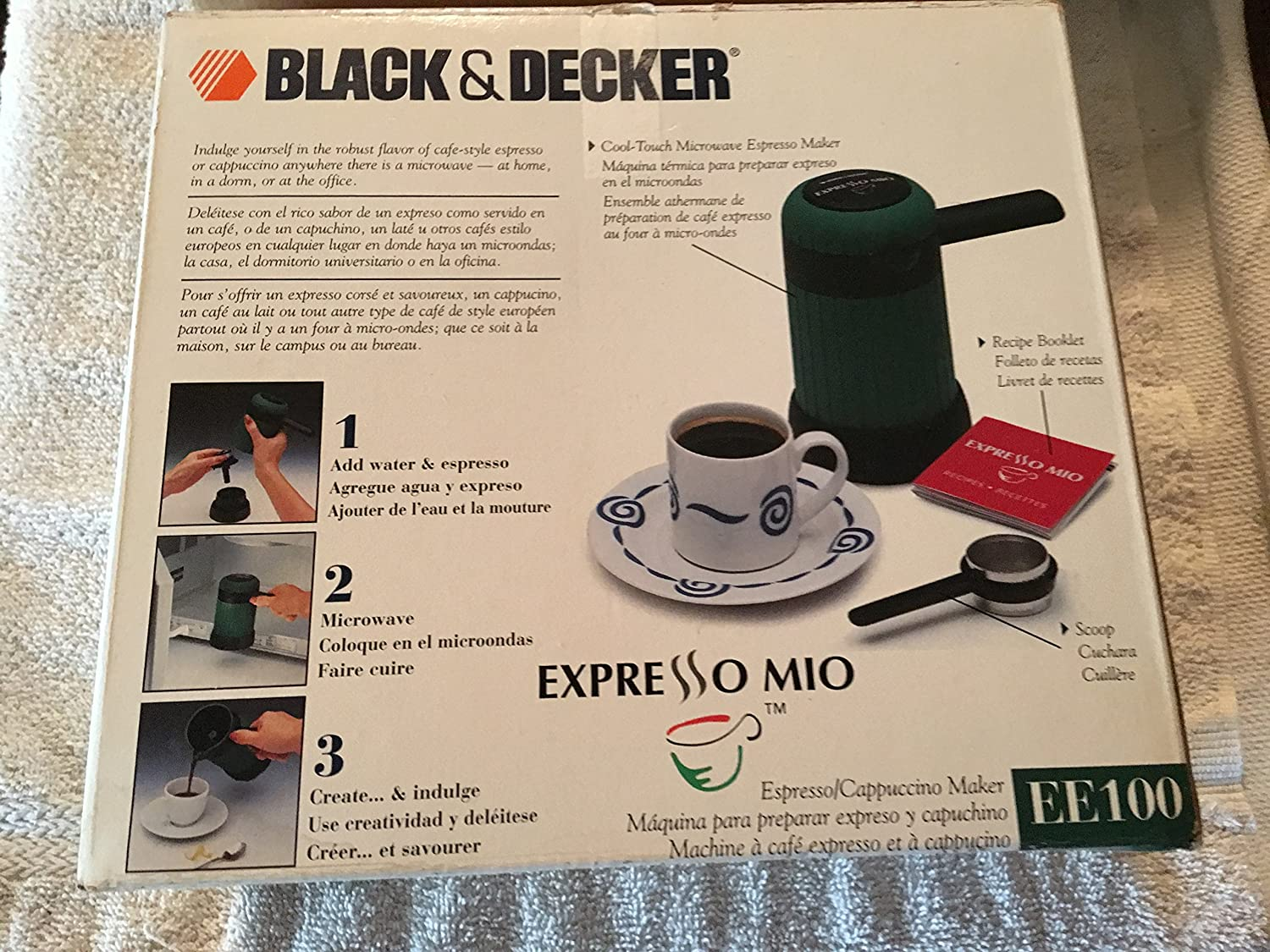 Amazon.com: Black & Decker Epresso Mio EE100 Espresso/Cappuccino Maker, new in box, box has been opened.: Kitchen & Dining