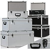 Masko® 3er SET Alu Boxen ✓ Alubox ✓ Alukiste ✓ Werkzeugkoffer ✓ Werkzeugkasten ✓ Transportbox | Werkzeugkiste | Lagerbox NEU Werkzeug Box | Farbe: Silber