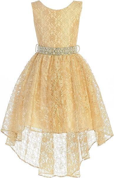 Amazon.com: BNY Corner vestido de niña con flores y ...
