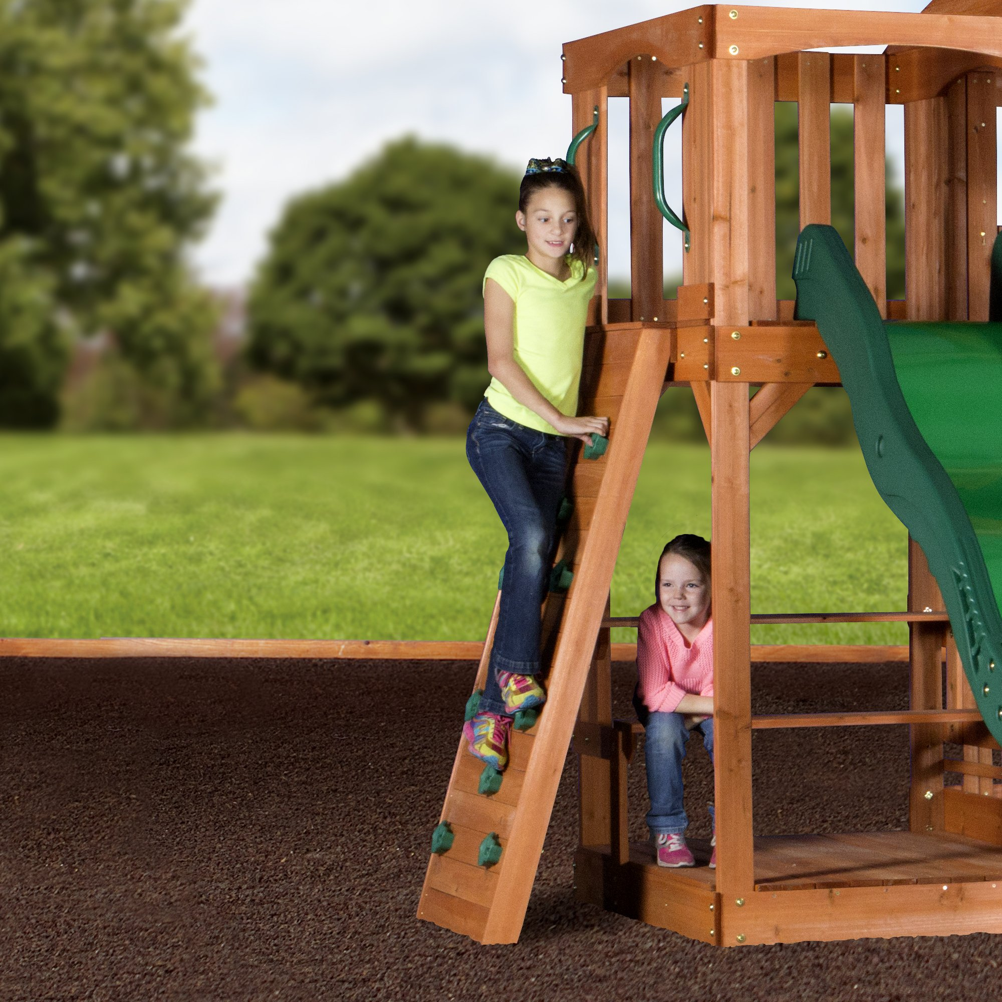 Backyard Discovery Pacific View All Cedar Wood Playset Swing Set by Backyard Discovery (Image #4)