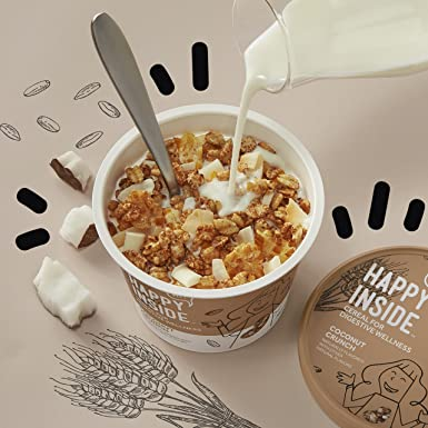 HI! Happy Inside Breakfast Cereal, Coconut Crunch with ...