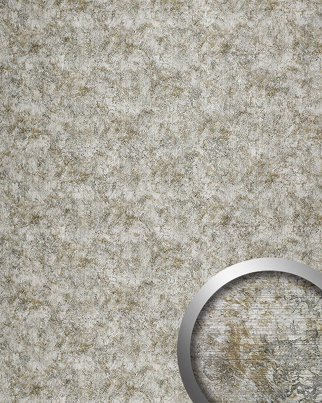 Revestimiento mural WallFace 17269 VINTAGE Estilo cuero Vintage Panel de pared autoadhesivo plateado gris 2,60 m2: Amazon.es: Bricolaje y herramientas