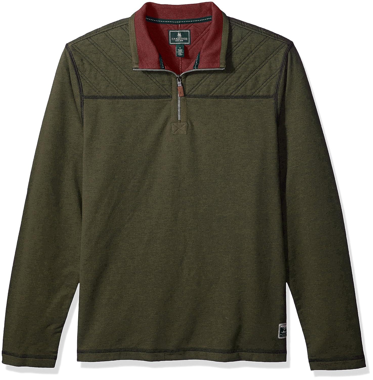 G.H. Bass & Co. Mens Quilted 1/2 Zip Fleece Arrow Men' s Tops 5273263