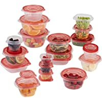 40-Piece Rubbermaid TakeAlongs Assorted Food Storage Container Set (Red)