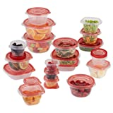 Amazon Price History for:Rubbermaid TakeAlongs Assorted Food Storage Container, 40 Piece Set, Racer Red