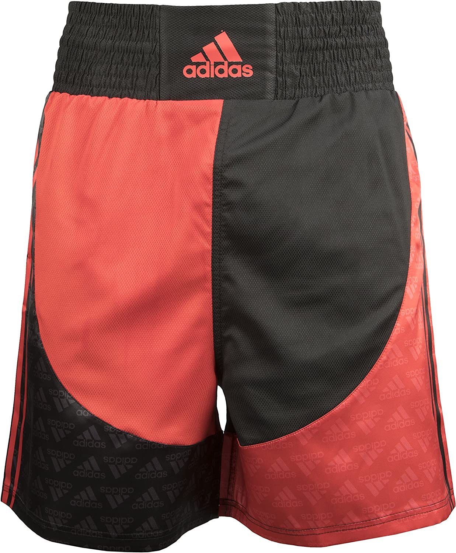 traje Blanco crear  Amazon.com : adidas Boxing Short (Black/red, L) : Clothing