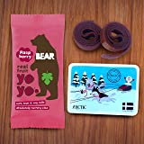 BEAR - Real Fruit Yoyos - Raspberry - 0.7 Ounce (12 Count) - No added Sugar, All Natural, non GMO, Gluten Free, Vegan - Healthy on-the-go snack for kids & adults