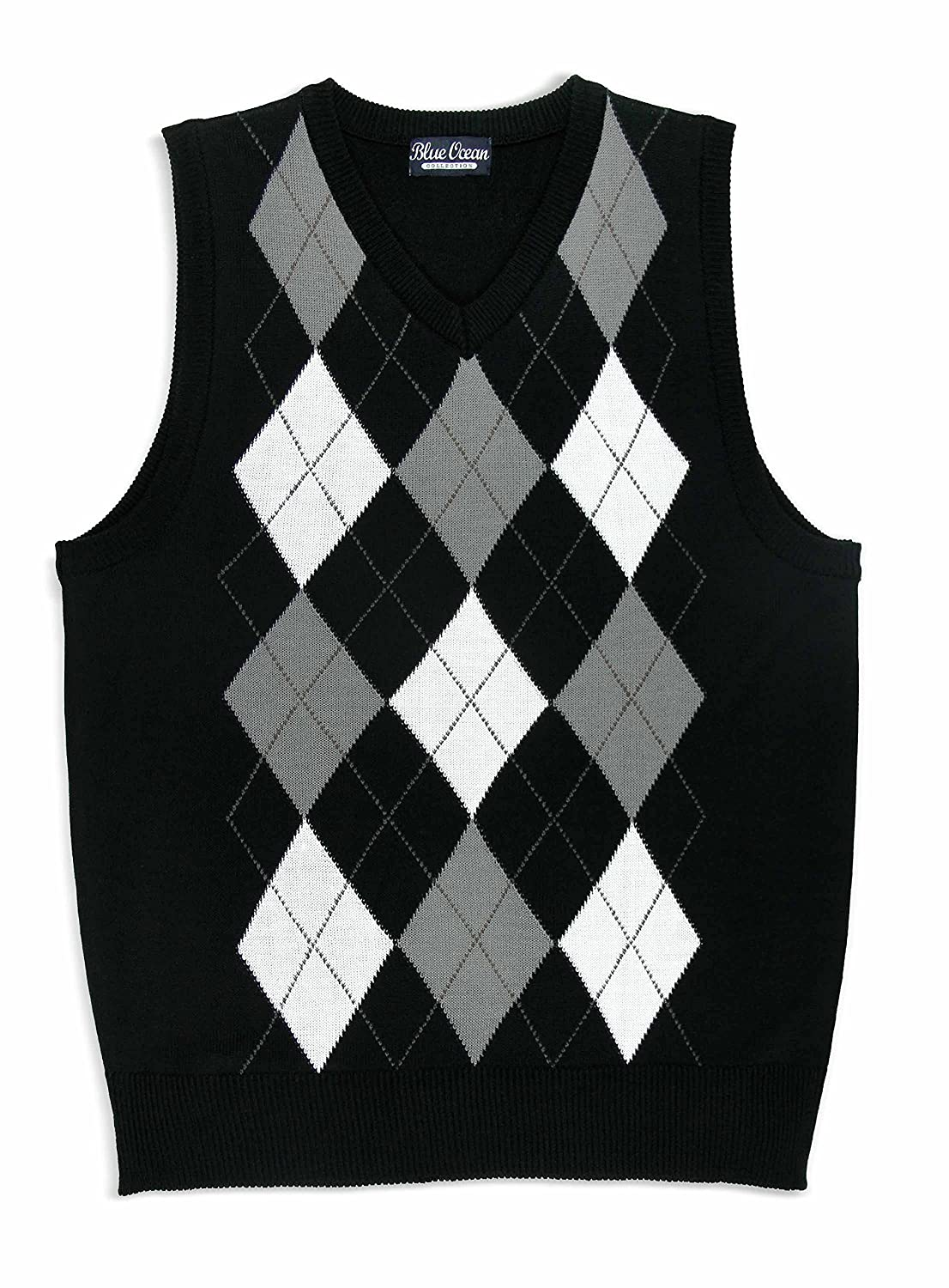 Blue Ocean Kids Argyle Sweater Vest-16/Large SV-255BOYS-Black-16/Large