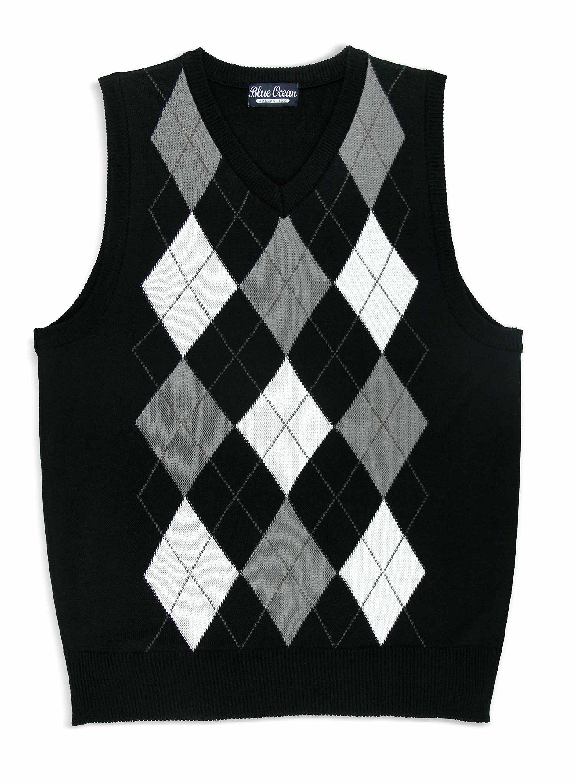 Blue Ocean Kids Argyle Sweater Vest-8-10/Small