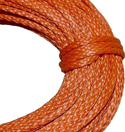 Neon Orange.Made in USA. 6mm x 200 ft.Hollow Braid Polyethylene Rope