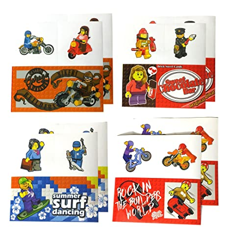 Amazon.com: 8 Sheets of Stickers for Lego-Theme Parties, Party ...