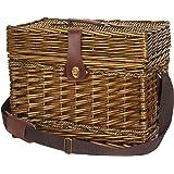 Household Essentials ML-2720 Portland Wicker Picnic Basket, Brown