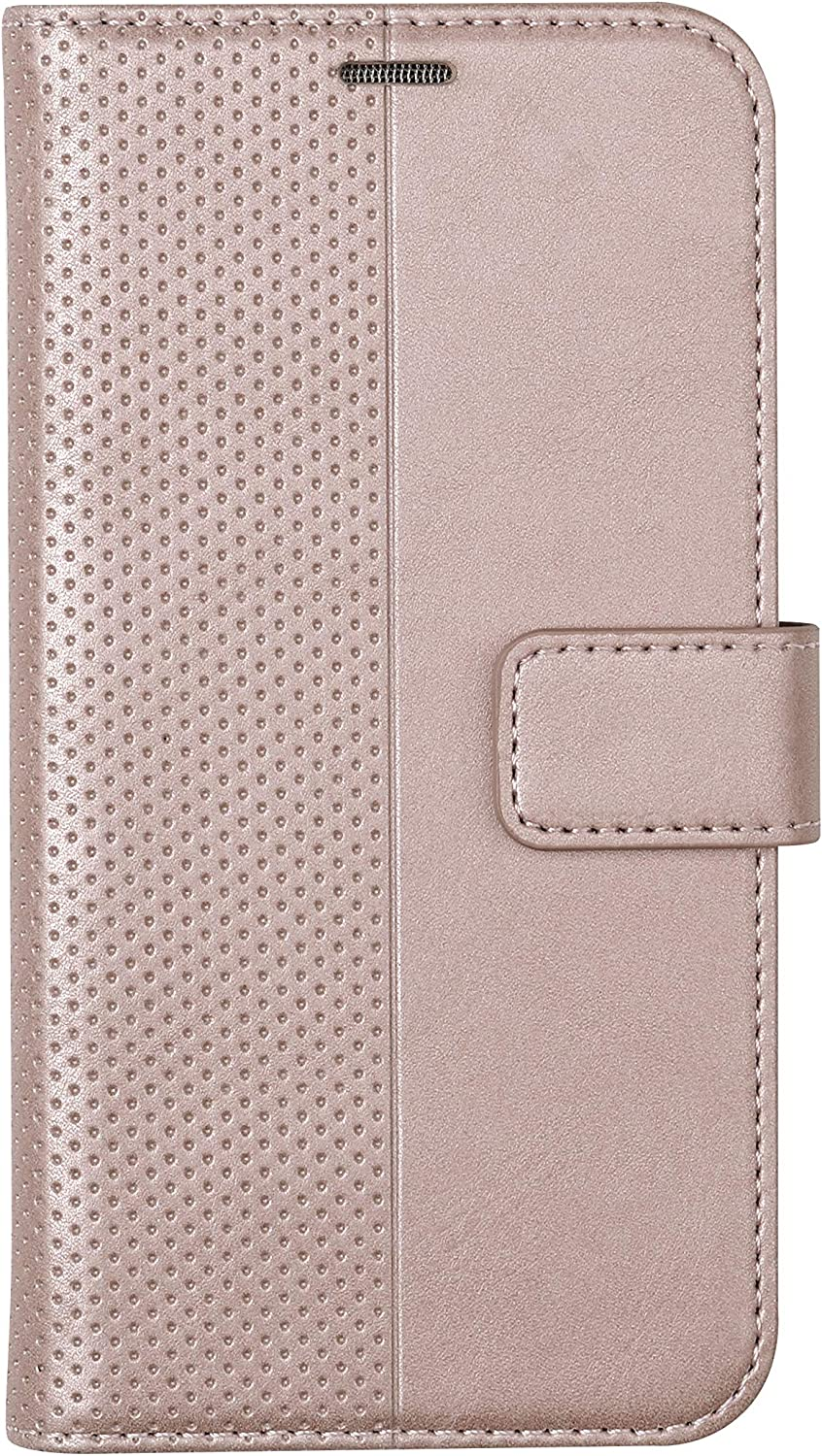 VEST Anti Radiation Wallet Case and Protector for iPhone 11 with RFID Protection Bump & Shock Protection [Rose Gold]