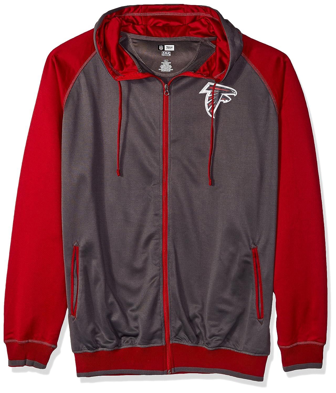 NFL Mens Falcons Full Zip Poly Fleece Ragla