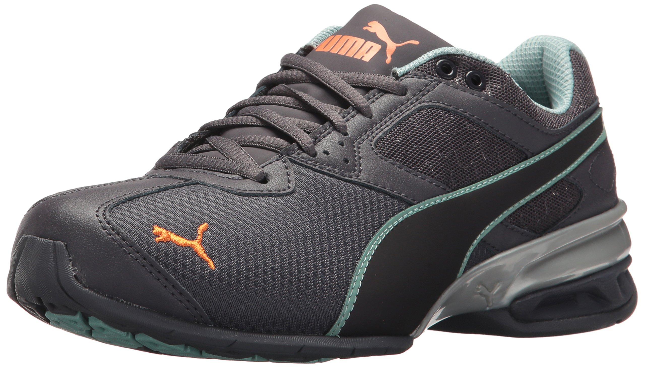 PUMA Women's Tazon 6 Metallic Wn Sneaker, Periscope-Aquifer-Melon, 6.5 M US