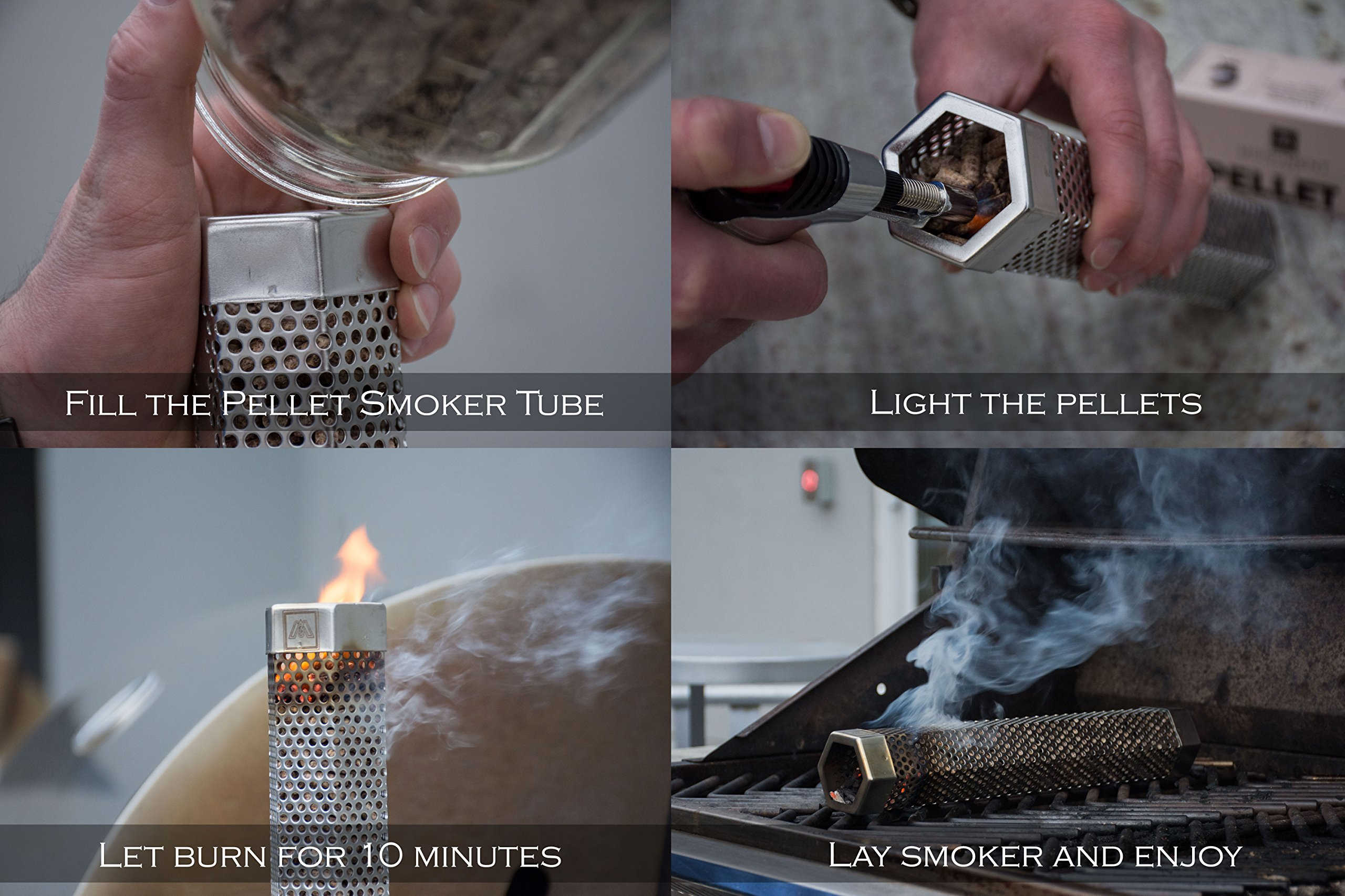 M EMBR Smoking 12'' Pellet Smoker Tube   E-Book with Recipes Included by M (Image #2)