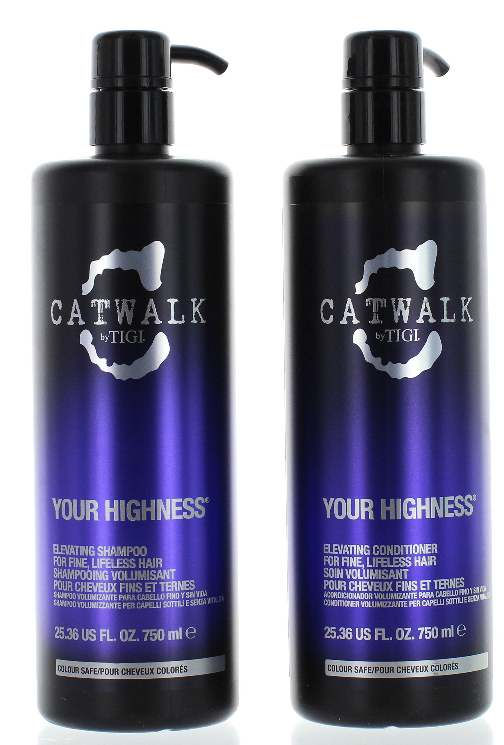 TIGI Catwalk Your Highness Volume Tween, 25.36 Oz Volumizing Shampoo and Conditioner Duo