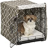 Midwest Homes for Pets Dog Crate Cover, Brown Geometric Pattern, 24-Inch