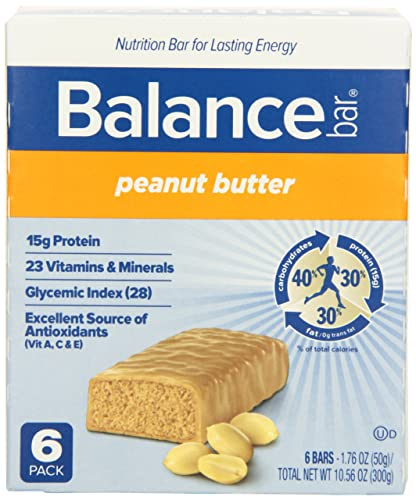 Balance Bar Peanut Butter, 1.76 Ounce Bars,6 Count