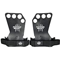 POWER BEAST Crossfit Grips Pro, vingerloze handschoenen, 4 uur, 4 gaten, voor gewichten, fitness, calisthenie…