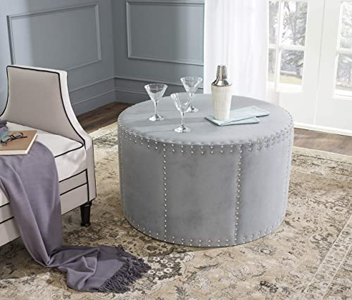 Safavieh Mercer Collection Sherri Ottoman, Grey