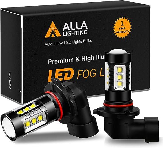 Alla Lighting 3200 Lumens 9145 H10 LED Fog Light Bulbs