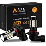Alla Lighting 3200 Lumens 9145 H10 LED Fog Light Bulbs, Extreme Super Bright 80W Cree 12V CANBUS 9140 PY20D 9155 Replacement,
