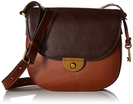 Fossil Emi Saddle Bag, Multi/Brown: Handbags: Amazon.com
