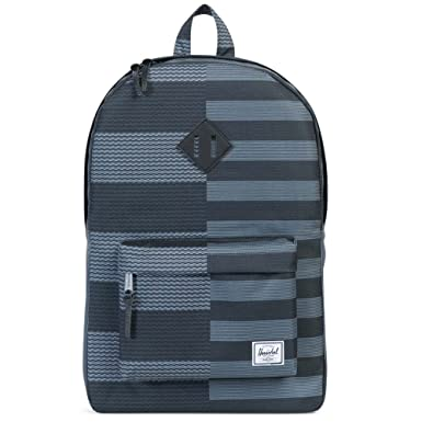 57e07548be5 HERSCHEL - Backpacks - Men - Blue and Black Graphics Print Heritage Backpack  21.5 L for men - TU  Amazon.co.uk  Clothing