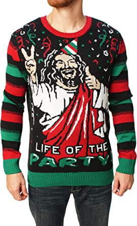 Ugly Christmas Sweater Men's Jesus B Day Sweater