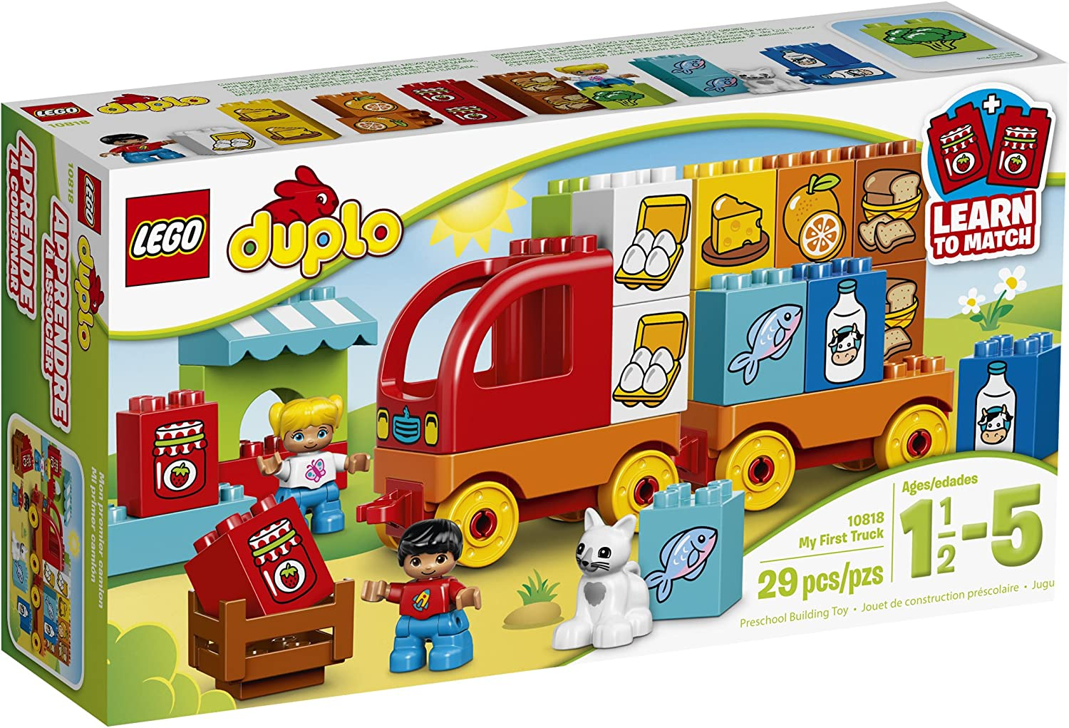 LEGO DUPLO My First Truck 10818 Learning Toy, Large Building Blocks