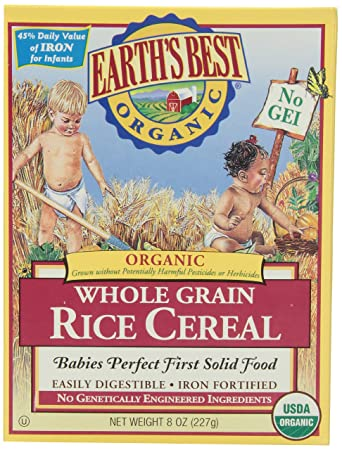 Earth S Best Baby Cereal Rice 8 Oz Earth S Best Amazon Com