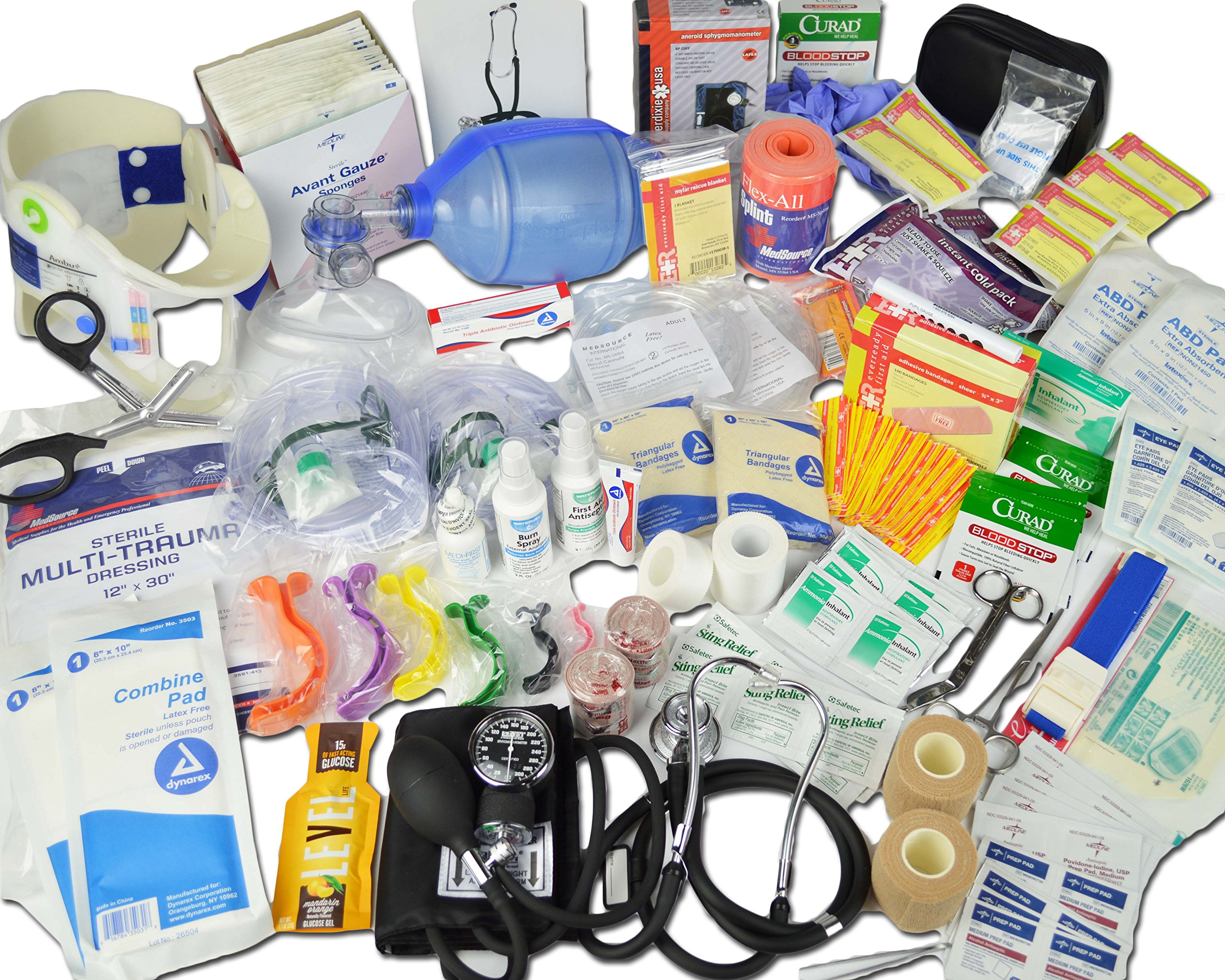 Lightning X Deluxe Stocked Medical EMS First Aid Responder Trauma EMT Fill Kit C by Lightning X Products