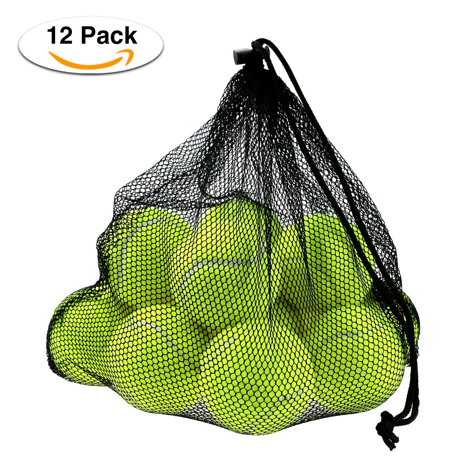 Philonext 12 Pcs Tennis Balls with Mesh Carrying Bag, Pressureless Tennis Balls Practice Balls Playing with Pets Sports Bucket Balls for Easy Transport Philonext Direct