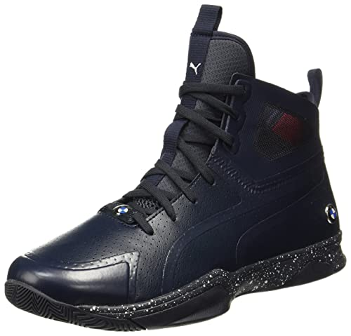 1d5d81d5e54b6e Puma Men s BMW Ms Whiplash Mid Syn Team Blue and High Risk Red Sneakers - 6