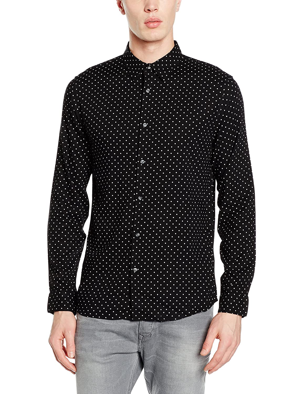 New Look Viscose Polka Dot Camisa para Hombre