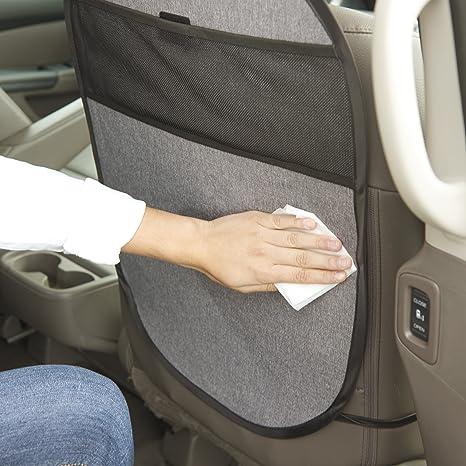 Evenflo Maestro Booster Car Seat Thunder With Kick Mat Storage Pocket Black
