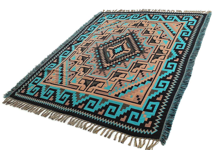 オニキス矢印Southwest装飾Throw 4 x 5 B00ZXYOPOU Laredo Turquoise