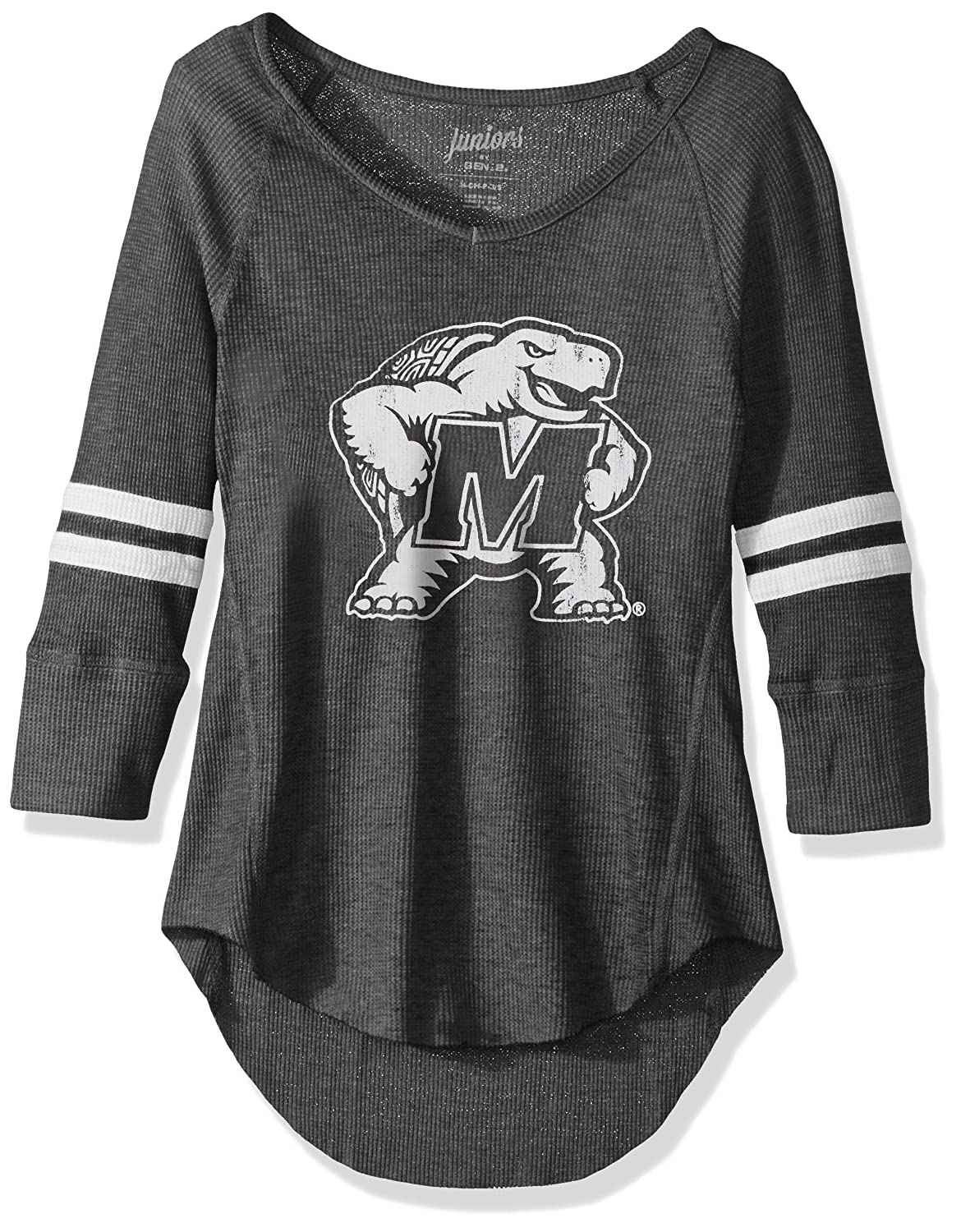 Small NCAA Maryland Terrapins Juniors Outerstuff Relaxed 3//4 Raglan Thermal Top 3-5 Team Color